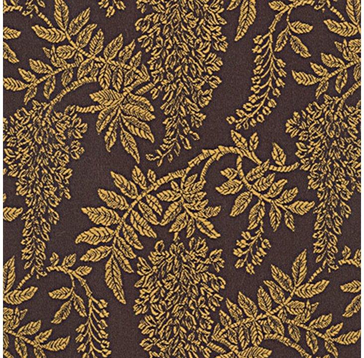 Wisteria Fabric, Gold