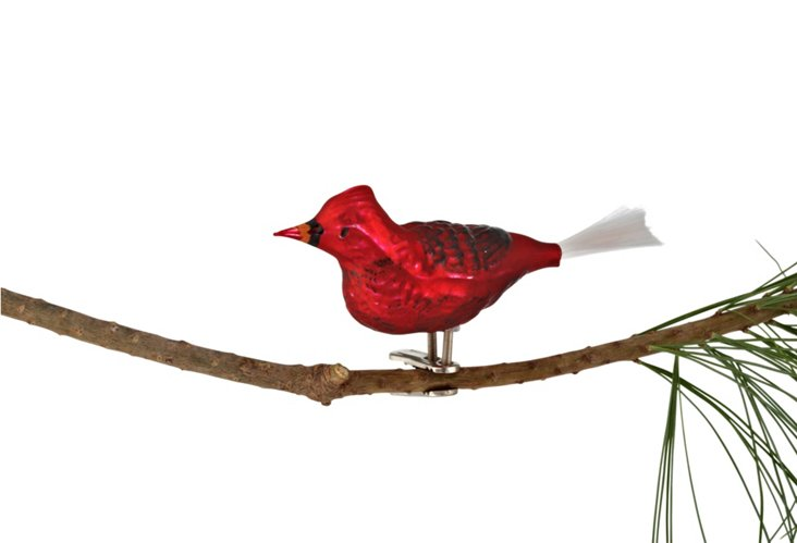 """4"""" Cardinal Ornament, Red"""