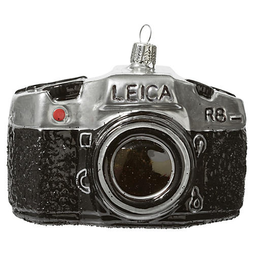 "4"" Leica Ornament, Black"