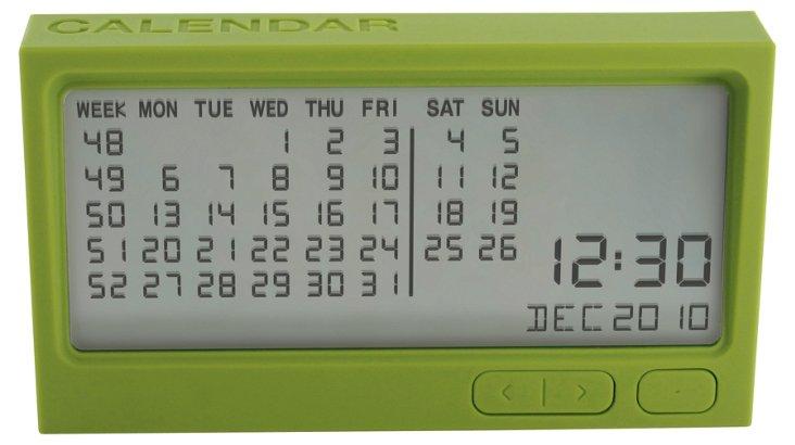 Digital Calendar, Green