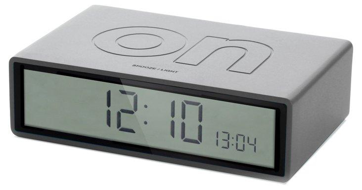 Flip On/Off Clock, Gray