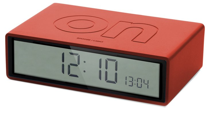 Flip On/Off Clock, Red