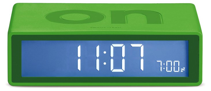 Flip On/Off Clock, Green