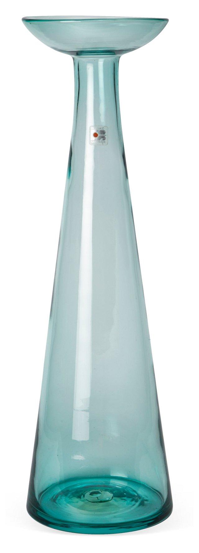 Blenko Turquoise Glass Vase