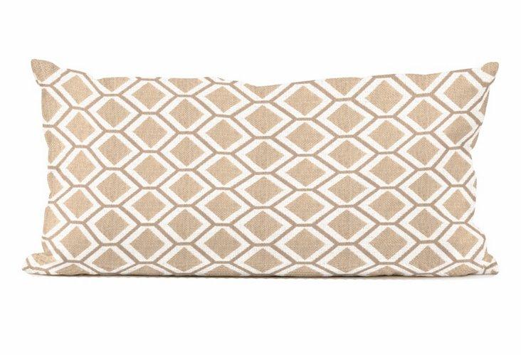"Patio Pillow 11""x22"", Geo Stone"