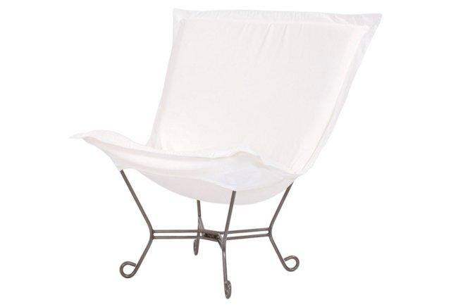 Patio Puff Chair, Natural