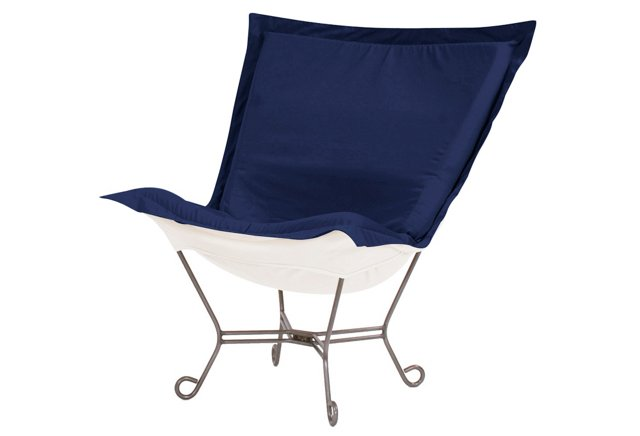 Patio Puff Chair, Ocean