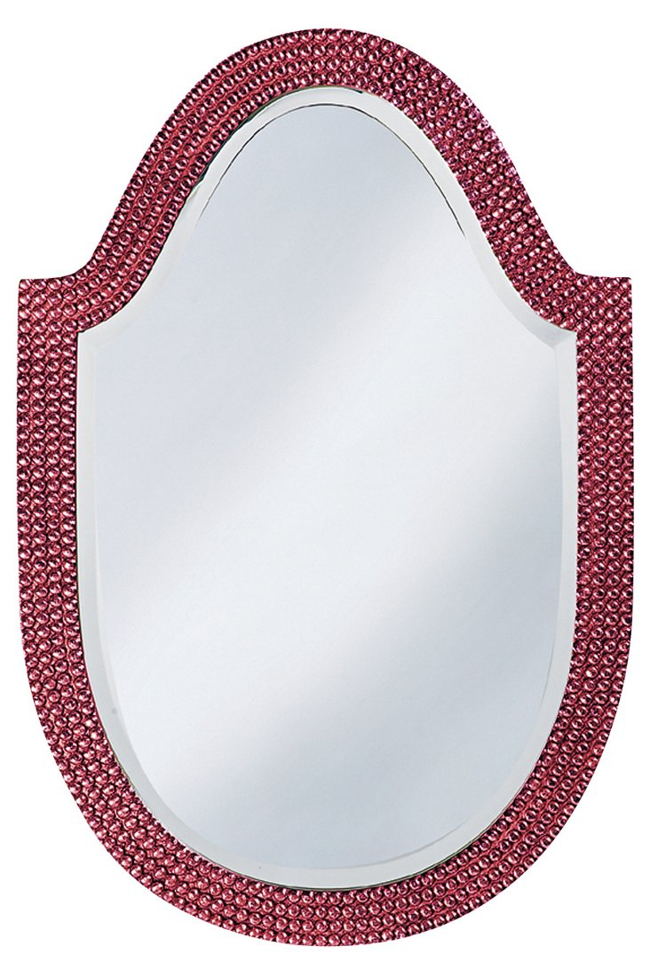 Lancelot Mirror, Hot Pink