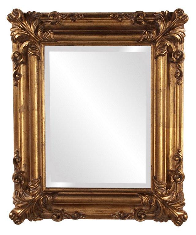 Prinia Wall Mirror, Gold Leaf
