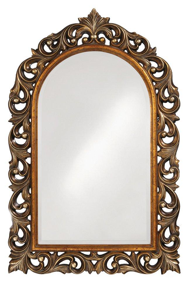 Orleans Oversize Mirror, Gold