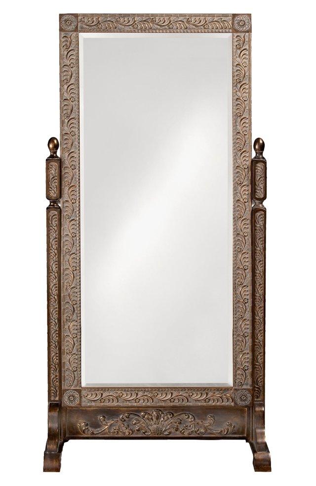 Vivian Floor Mirror, Gold