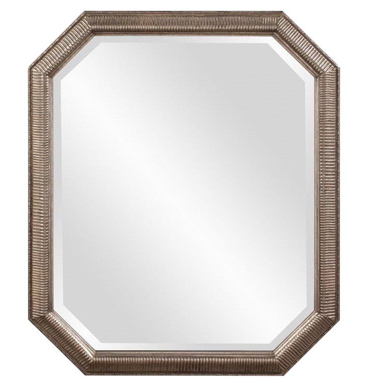Virginia Wall Mirror, Antiqued Silver