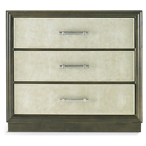 Alex 3-Drawer Dresser, Pecan