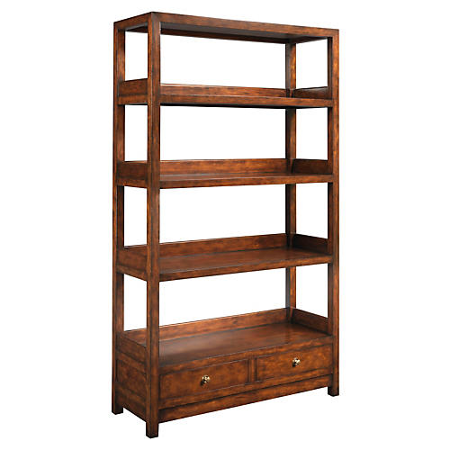 "La Grange 76"" Bookcase, Sienna/Honey"