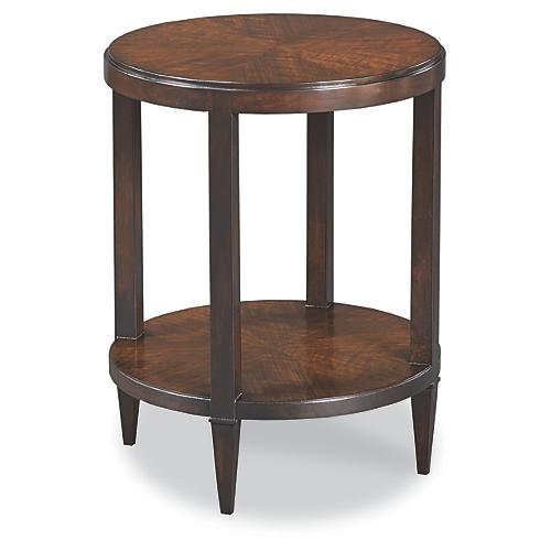 Edith Round Side Table, Espresso