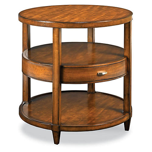 Buhman Round Side Table, Maple