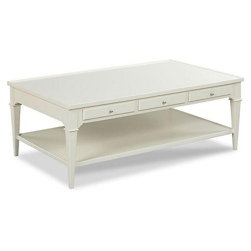 Crewse Coffee Table, Pearl White