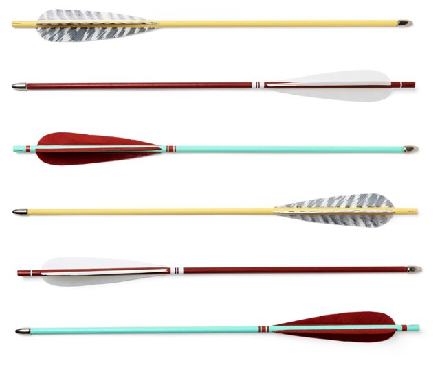 """16"""" Sunset Arrows, Asst. of 6"""