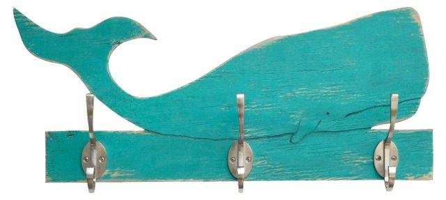 Whale Towel Hook, Blue
