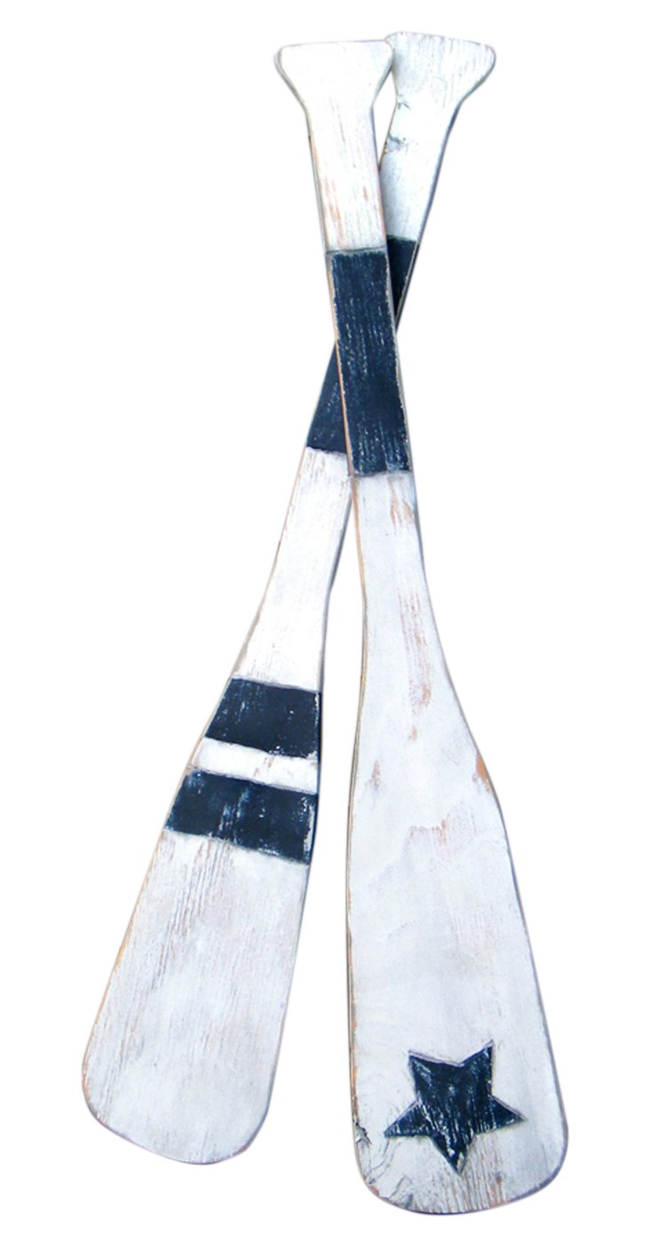 Oar Star & Stripe Set, Navy/White