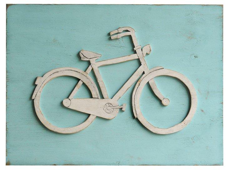 Bike Wall Sign, Blue