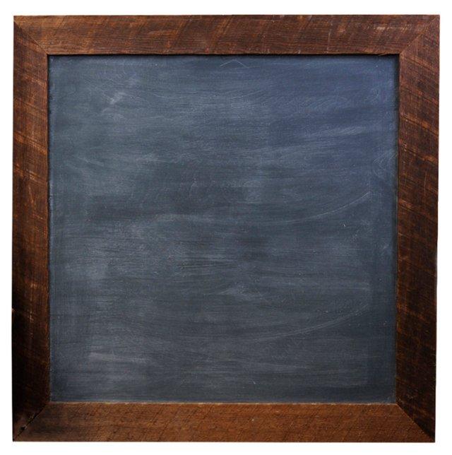 """42"""" Rustic Framed Chalkboard, Natural"""