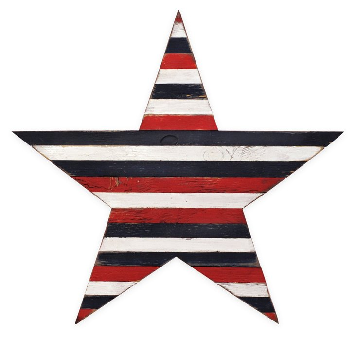 "26"" Red, White, and Blue Pallet Star"