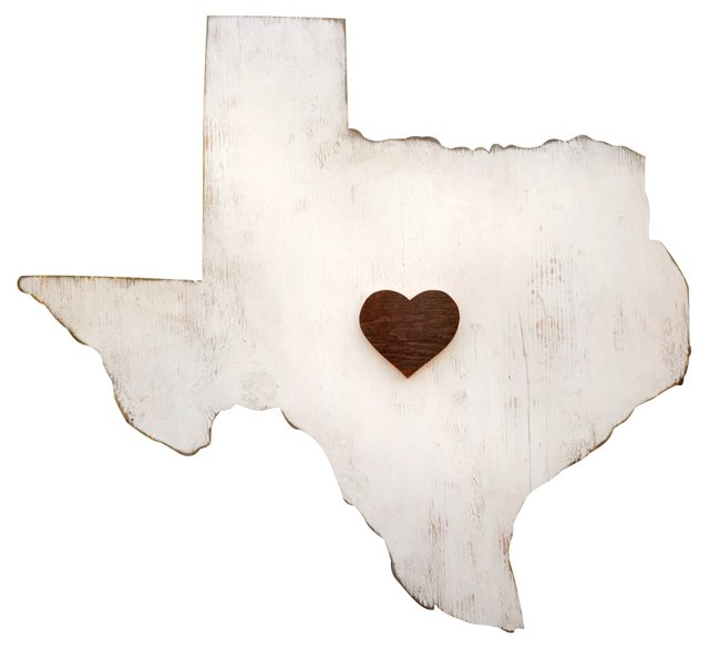 Texas State Wall Plaque