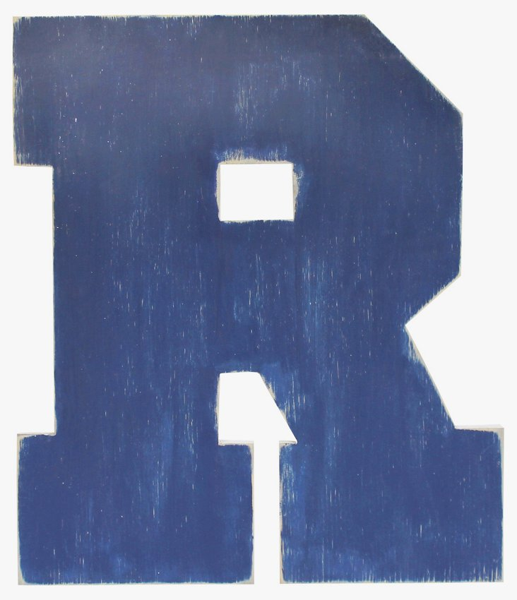 Collegiate Style Wall Letter A-Z, Navy