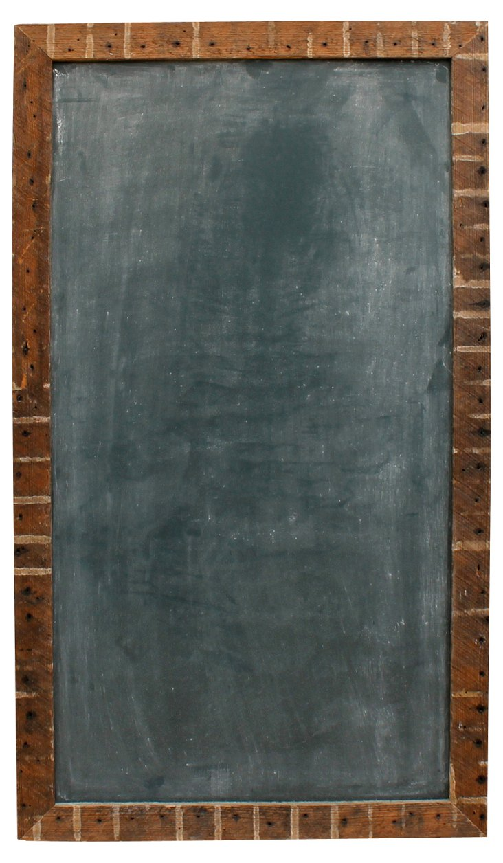 "42"" Rectangle Chalkboard, Rustic"