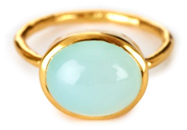 Milano Stack Ring, Aqua Chalcedony