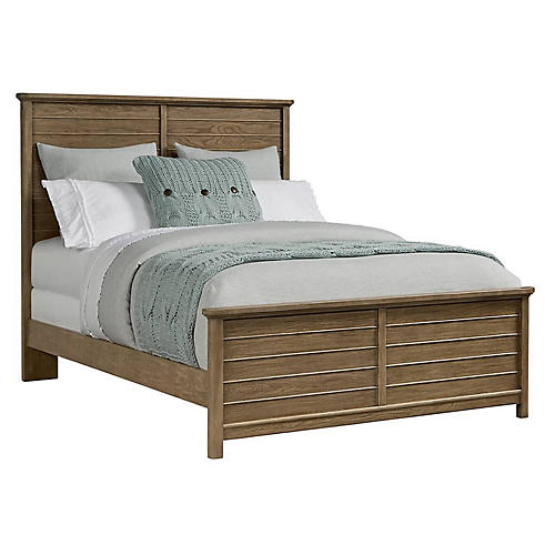 Driftwood Park Panel Bed, Natural