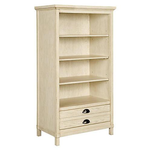 Driftwood Park Bookcase, Whitewash