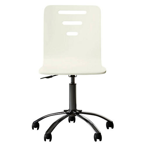 Teaberry Lane Desk Chair, Stardust White