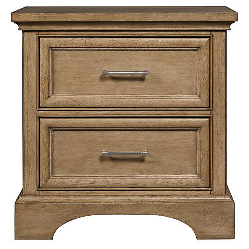 Chelsea Square Nightstand, Toast
