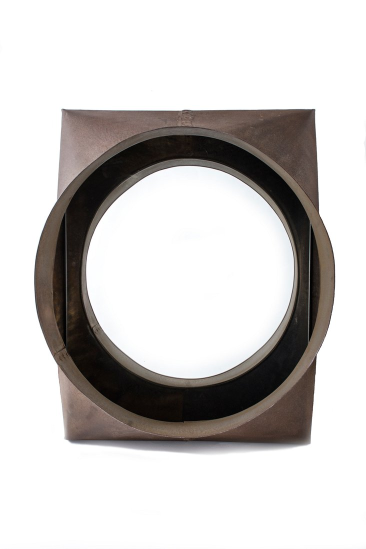 Industrial Steel Vent Mirror