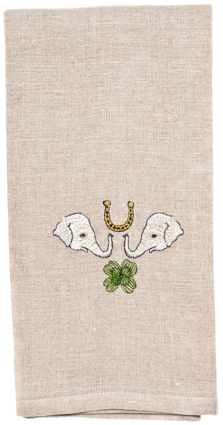 White Elephant Tea Towel