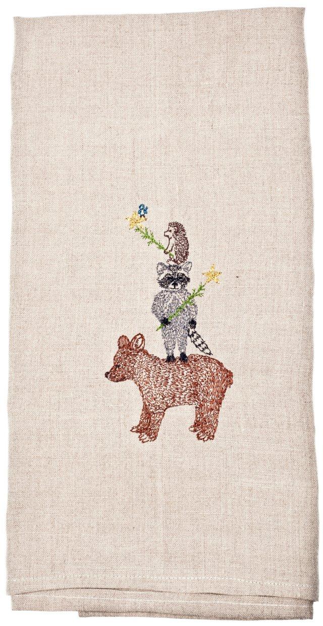 Animal Tree Tea Towel