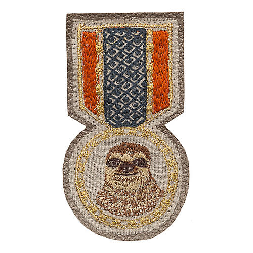 Sloth Medal Pin