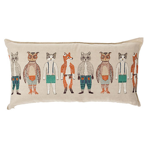 Pocket Dolls 16x32 Lumbar Pillow