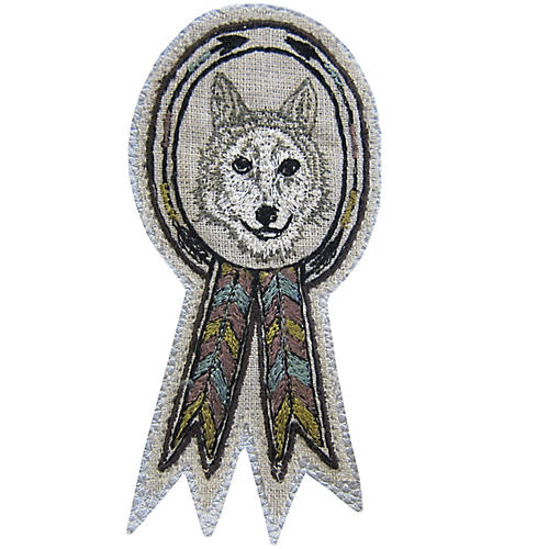 Wolf Badge Pin