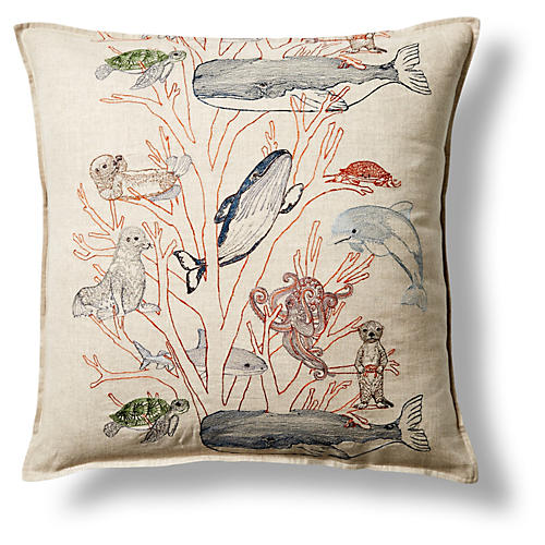 Coral Forest 20x20 Linen Pillow