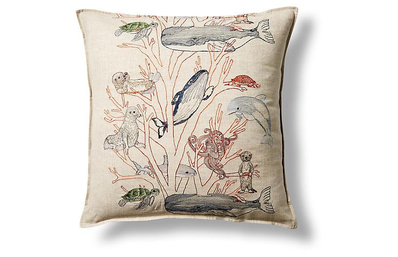 Coral Forest 20x20 Linen Pillow