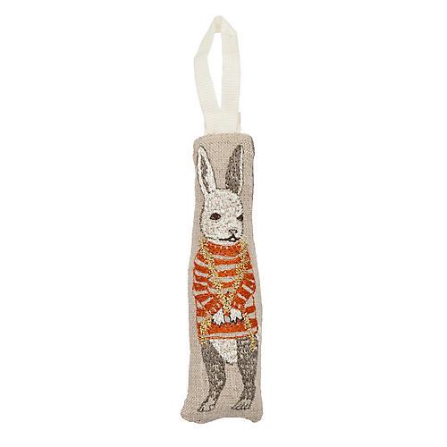 "4"" Bunny Trimmer Ornament, Natural"