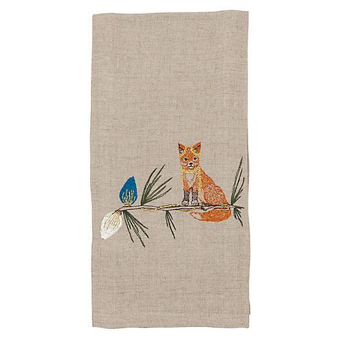 Fox Tree Trimmer Tea Towel
