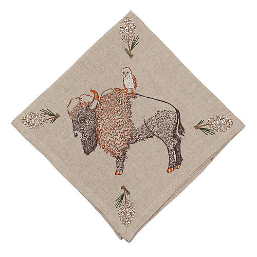Pinecone Bison Dinner Napkin