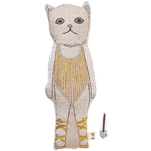 Baby Cat 10x3 Pocket Doll, Linen