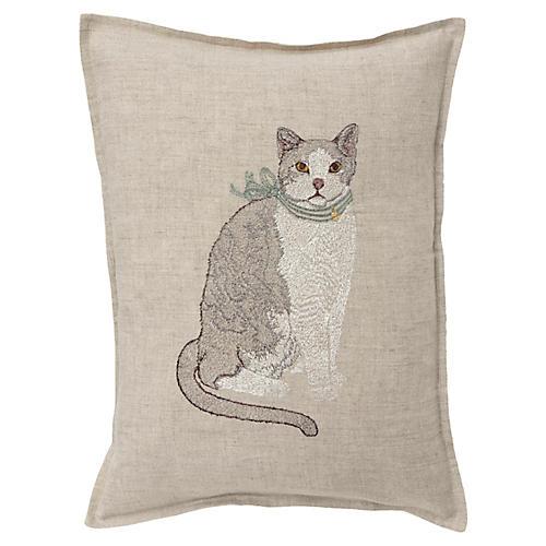 Fancy Cat 12x16 Pillow