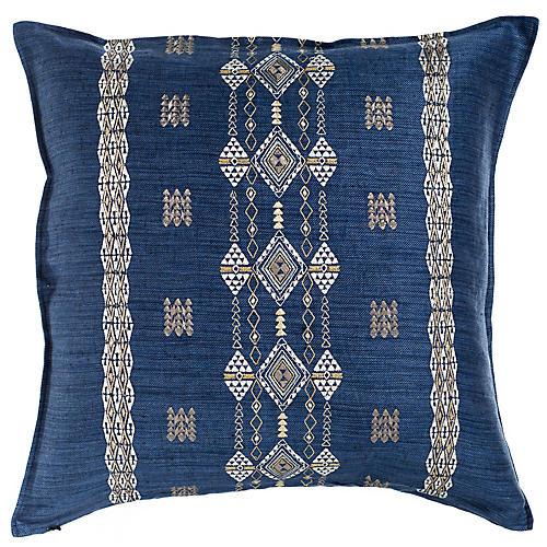 Berber 20x20 Pillow, Indigo Linen