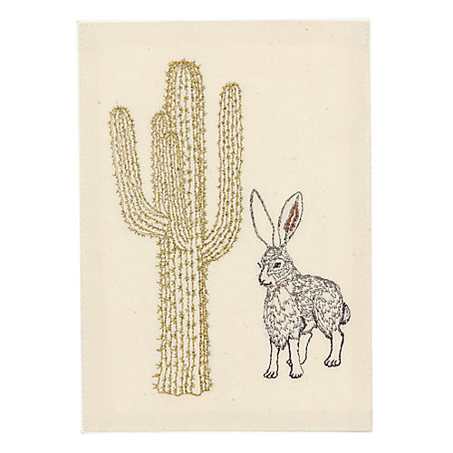 Jackrabbit & Saguaro Note Card